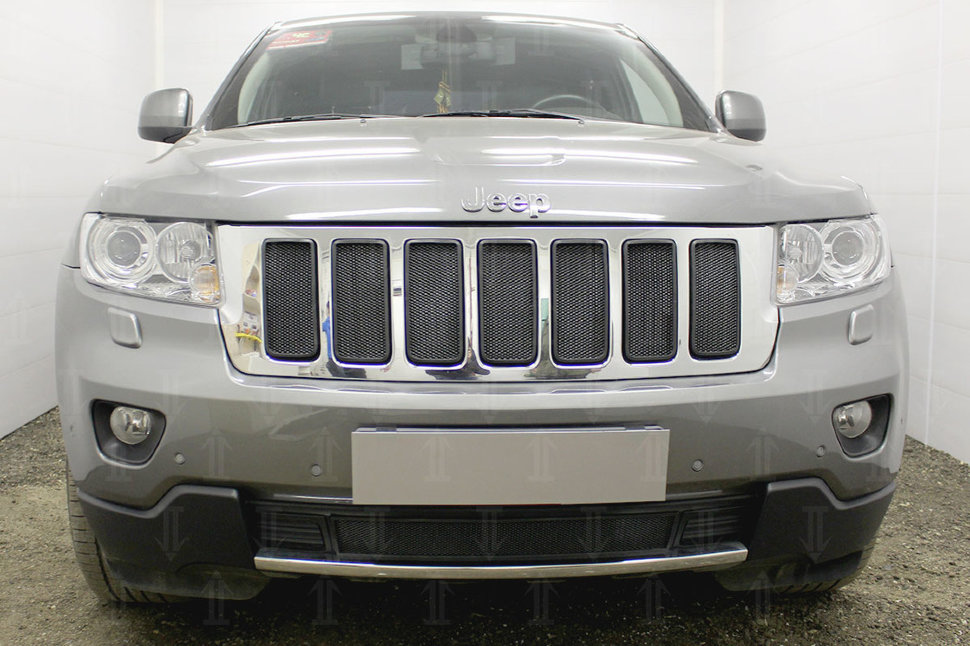Защита радиатора Jeep Grand Cherokee IV (WK2) 2010-2013 black верх