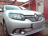 Защита радиатора Renault Logan 2014- (Privilege, Luxe Privilege) chrome низ
