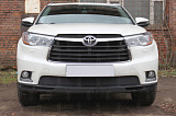 Защита радиатора Toyota HIGHLANDER U50 2013-2016 black низ