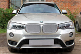 Защита радиатора BMW X3 II (F25) 2014- (3D) chrome середина PREMIUM