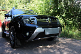 Защита радиатора Renault Duster 2015- black низ