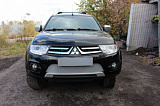 Защита радиатора Mitsubishi L200 2014-2015 (Калуга)/Pajero Sport 2013-2016(Калуга) chrome OPTIMAL