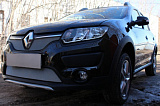 Защита радиатора Renault Sandero Stepway 2014- chrome низ