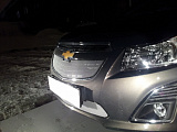 Защита радиатора Chevrolet Cruze 2013- chrome низ