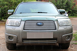 Защита радиатора Subaru Forester II 2005-2008 chrome низ
